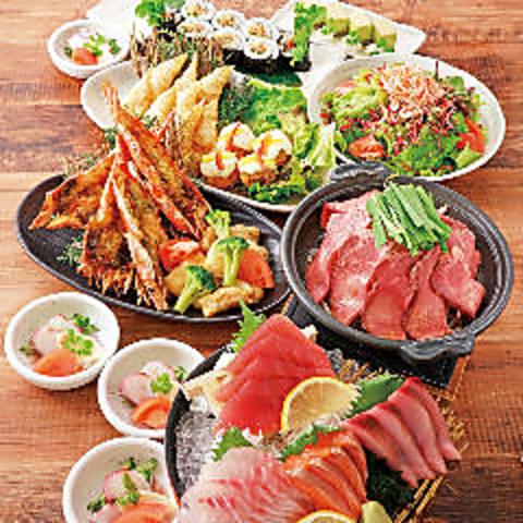 【大漁(たいりょう)コース】2時間飲み放題付 お一人様4000円(税込)