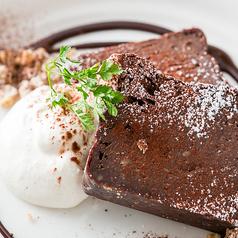 料理メニュー写真生チョコガトーショコラ
