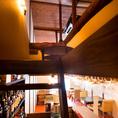 屋根裏の個室2名席へと続くはしご階段!隠れ家の雰囲気を存分に楽しめます♪