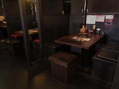 6名様までOKの個室風空間は、会社宴会におすすめ!!