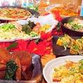 他ではわえない絶品沖縄珍味の数々で楽しいご宴会を♪歓送迎会や各種宴会に最適な飲み放題付きコースご用意しております!沖縄の代表的な料理が堪能できるな美らのコースは飲み放題付きで4000円~ご用意!