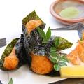 料理メニュー写真海老と山芋の磯部揚げ