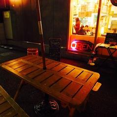 【喫煙OK◎ 6名様テラス席】街の雰囲気を味わいながらお楽しみ下さい♪賑やかな竹下通りとは一変した落ち着いた静かな裏路地でゆっくりお楽しみ下さい♪