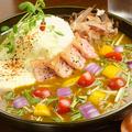 料理メニュー写真<おすすめの組み合わせ★>サマベジ+タルタル七味+厚切り炙りベーコン!