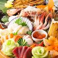 季節のお刺身をご用意♪新鮮なお魚を使ったコースは絶品です♪その日に水揚げされた産地直送の新鮮素材◎お手頃な価格からご用意しております♪