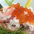 【こだわり食材を堪能】佐渡紅ズワイガニの甲羅詰めいくらがけ