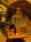 2名様用窓側テーブル個室 2人だけの空間を演出致します。