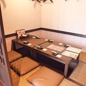 大小様々な個室があります。こちらは6名席
