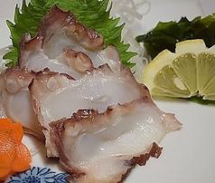島ダコ刺(Octpus-Sashimi)
