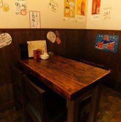 2名様からご利用できるテーブル席