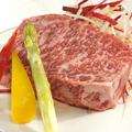料理メニュー写真黒毛和牛サーロインステーキ