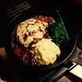料理メニュー写真チーズハンバーグセット 150g