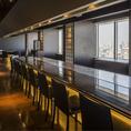 【カウンター席】20階から大阪の絶景パノラマお楽しみいただけます。