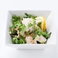 料理メニュー写真ピリ辛ラー油とパクチー タイ風よだれ鶏