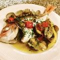 料理メニュー写真季節の魚のアクアパッツァ