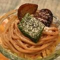 料理メニュー写真栗と抹茶のモンブランパフェ