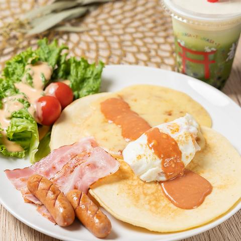 【ランチにおすすめ】お食事系パンケーキ+ドリンクセット◇1350円