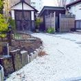 日本庭園を眺めることができる。