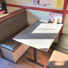 4名様のBOXテーブル席です。