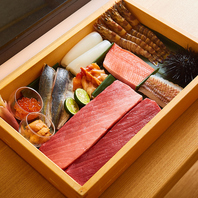 独自のルートにより新鮮な旬の鮮魚のみ仕入れに成功。