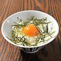 料理メニュー写真卵かけごはん タレ or 醤油 or わさび醤油