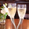 新郎新婦様に乾杯シャンパンプレゼント!ロマンティックなモエの専用ペアグラスで乾杯…♪