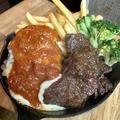 料理メニュー写真チーズバーグカットステーキ