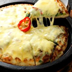 料理メニュー写真鉄板チーズチヂミ