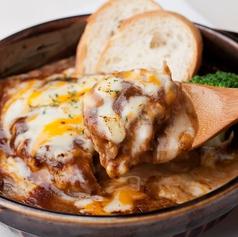 料理メニュー写真鶏つくねのハンバーググラタン