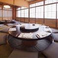【1階】ボックス席のお部屋や各種個室をご用意しております。2×1室 / 4名×5室 / 6名×4室 / 組み合わせにより最大12名 。