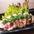 料理メニュー写真肉塊岩塩焼き
