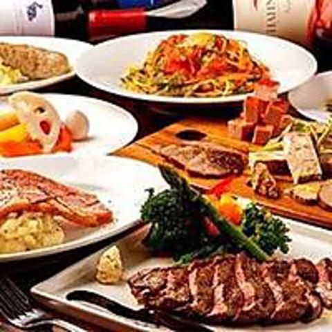 贅沢の極み!3H飲み放題付10品「赤身牛ステーキ食べ放題コース」5,500円⇒4,500円