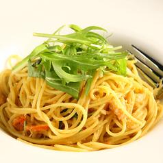 ズワイガニと水菜の蟹味噌風味