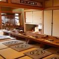 お座敷席はつなげることで10~24名様までの個室としてお使いいただけます。法事や会食にも◎