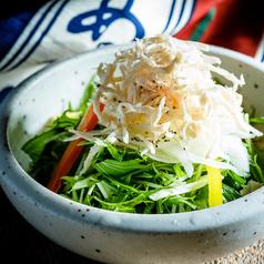 鶏と水菜のサラダ