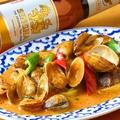 料理メニュー写真【春限定】あさりのチリインオイル炒め(ホイライパットナンプリックパオ)