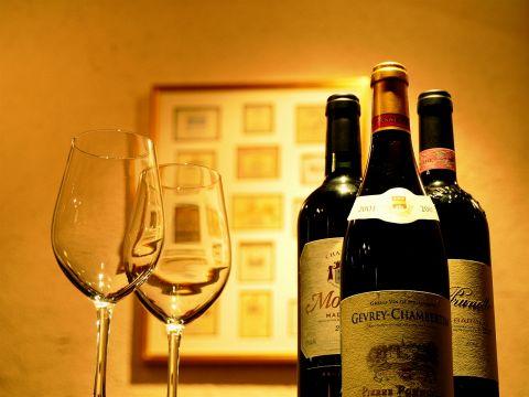 常時50種以上のワインを取り揃えております!