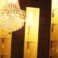 間接照明も職人の手造りの作品にこだわっています。目からも愉しんで頂けるよう細部まで徹底したこだわりを…