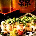 料理メニュー写真薩摩地鶏のもも煙り炙りレアー焼き/薩摩地鶏ももたたき焼き