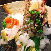 旬の魚がお皿の上に咲き誇る♪彩り鮮やかな鮮魚を堪能。