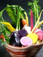 ≪食材へのこだわり≫無農薬・減農薬野菜を使用