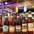 世界各国のクラフトビールを飲むことができます。新宿でナンバーワンの品揃えです♪開放的なハワイアンビアガーデンをお楽しみください!