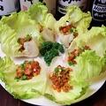 料理メニュー写真ピリ辛 ひき肉レタス/豚キムチ