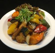 白身魚と野菜の黒酢あん