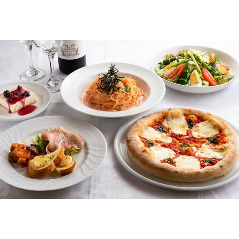 【イタリアンディナーセット】お料理4品+ドリンク1杯 3000円(税込)