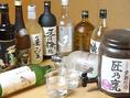 呑べえのためにたくさんの日本酒・焼酎をご用意しています。ボトルキープも承っています。