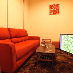 【roomD】 最大6名様前後まで入れるソファ付個室。・55インチTV設置済、無料レンタルのスマホケーブルをTVに繋いで大画面で楽しむことも無料で可能!・ブルーレイ・DVDプレーヤー設置、無料でお持込されたDVD鑑賞なども自由!・全店内、無線LANの無料利用可能!店内全ての設備、備品はサービスとなります。