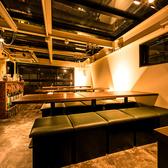 バル独特の楽しい空間のお席はラインナップを豊富に用意!個室席もございますので女子会等にもピッタリです。