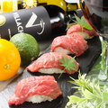料理メニュー写真【肉ずし】和牛炙り寿司