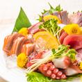 朝仕入れたばかりの鮮魚を使用したお料理はお魚本来の旨みがたっぷりと詰まったこだわりの逸品!透き通るような鮮度が◎